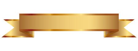 Vector illustration of gold ribbon  イラスト・ベクター素材