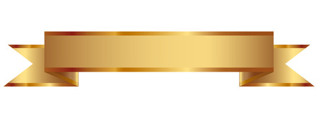 Vector illustration of gold ribbon Stock Illustratie