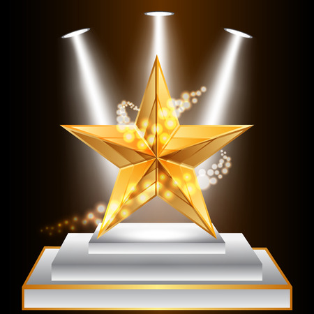 Vector illustration of gold star award