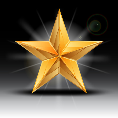 achievement clip art: Vector illustration of gold star Illustration