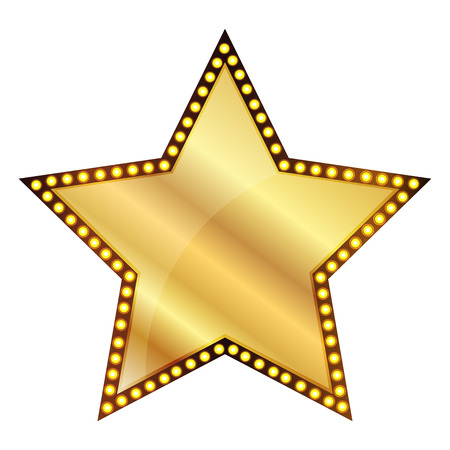 Vector illustratie van de Gouden Ster