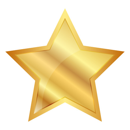 achievement clip art: Vector illustration of Gold Star