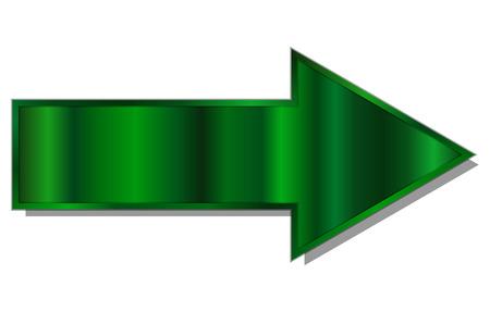 Vector illustration of green arrow Illustration