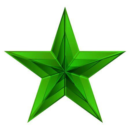Vector illustration of green star