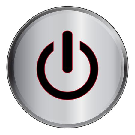 shutdown: Vector illustration of Shutdown button Illustration