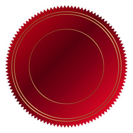 Vector illustratie van de rode zegel Stock Illustratie