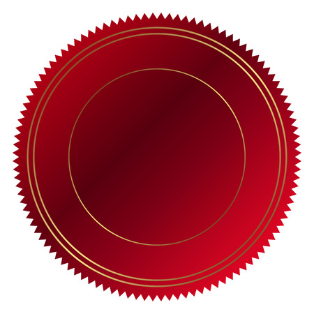 Vector illustration of red seal Illusztráció