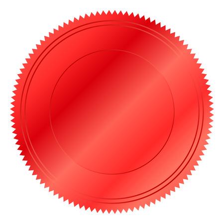 red seal: Vector illustration of red seal Illustration