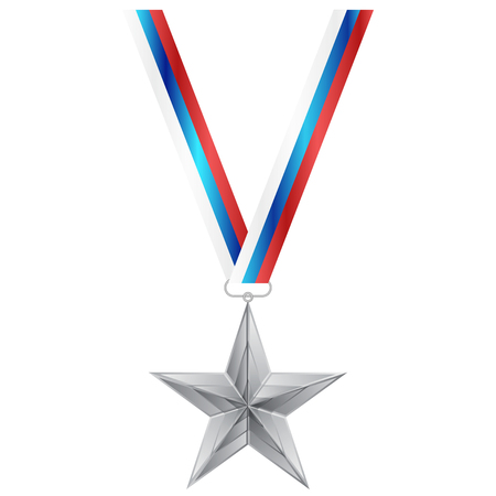 national hero: Vector illustration of Star Medal Illustration
