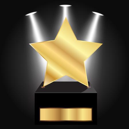 Vector illustration of gold star award