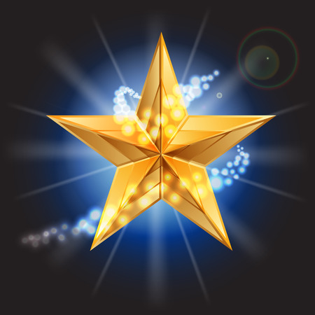 approval rate: Vector illustration of gold star Illustration