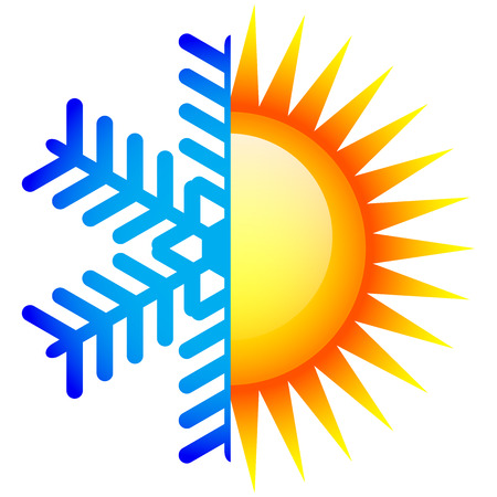 Vector illustration of winter and summer icon Illustration