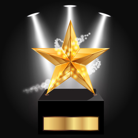 gold star: Vector illustration of gold star award