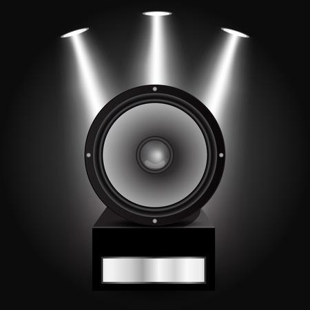 woofer: Vector illustration of Loudspeaker Illustration