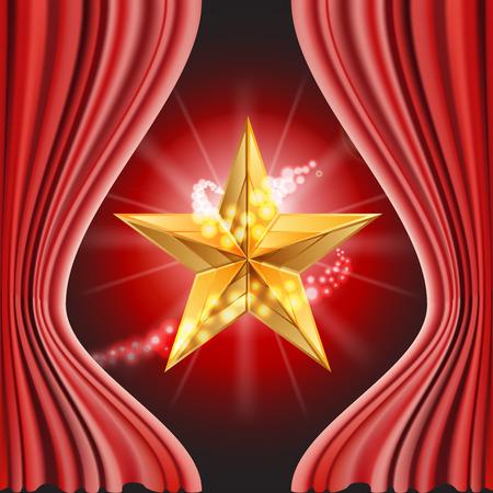 stasis: Vector illustration of Red carpet