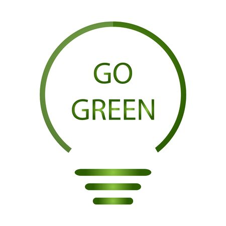 branch to grow up: Vector illustration of go green icon Stock Photo