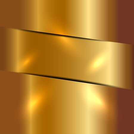metalic sheet: Vector illustration of gold background Stock Photo