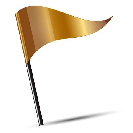 winning location: Vector illustration of gold fliag Stock Photo