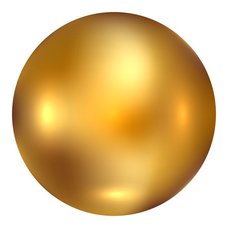 shiny gold: Vector illustration of gold ball