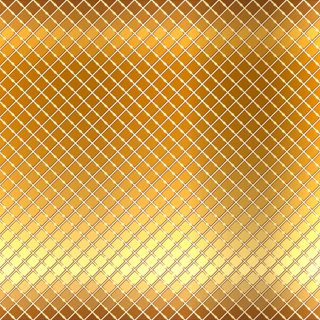 floor ball: Vector illustration of gold mosaic background