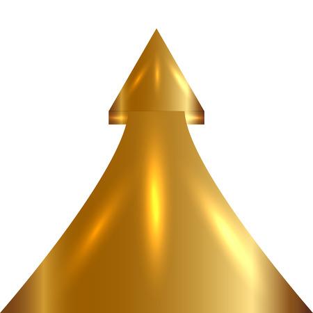 Vector illustratie van Golden Arrow