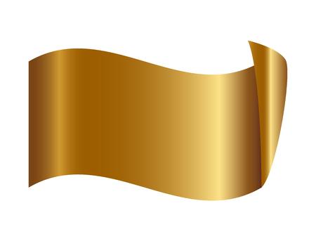 golden ribbon: Vector illustration of Gold ribbon