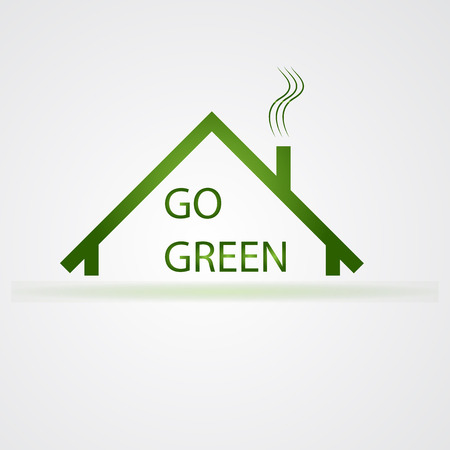 branch to grow up: Vector illustration of go green icon Illustration