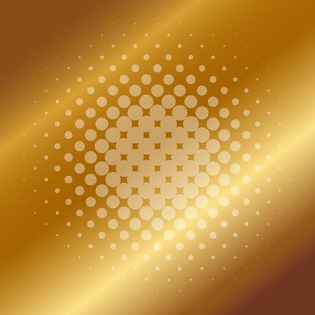 brushed steel: Vector illustration of gold background Illustration