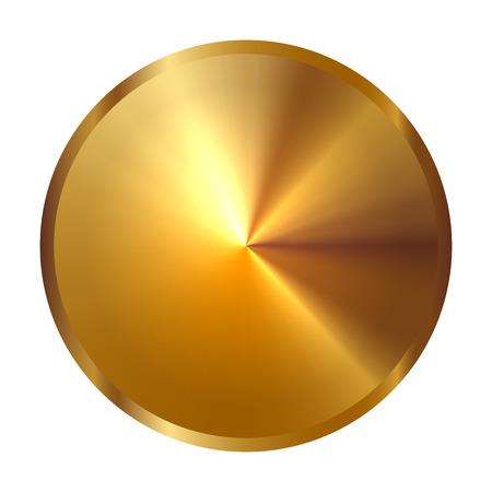 clip art wheat: Vector illustration of gold circle Illustration