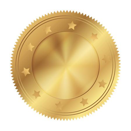 gold circle: Vector illustration of gold circle Illustration