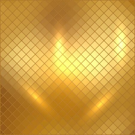 golden ball: Vector illustration of gold mosaic background
