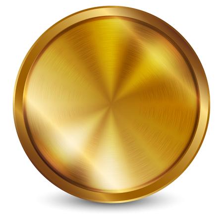 seal wax: Vector illustration of gold seal Stock Photo