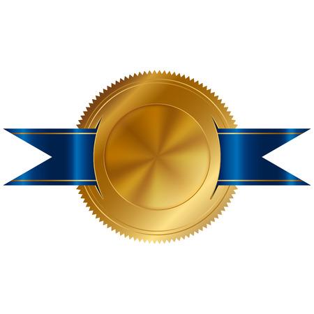 signatory: Vector illustration of gold seal Stock Photo