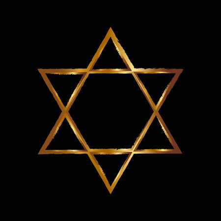 jewish background: Vector illustration of Star of David Stock Photo