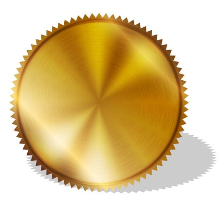 seal of approval: Vector illustration of gold seal Stock Photo