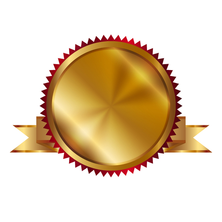 Vector illustration of gold seal Standard-Bild