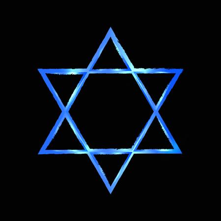 hannukah: Vector illustration of Star of David Stock Photo