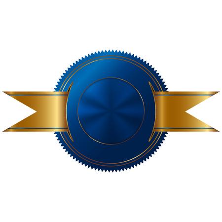 sellos: Ilustración del vector del sello de oro