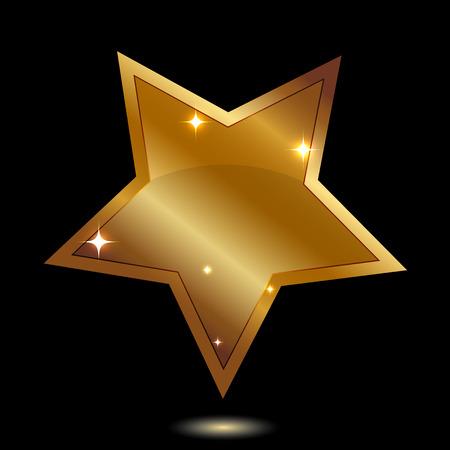 Vector illustration of gold star Stock Illustratie