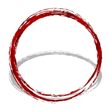 Vector illustration of Red circle