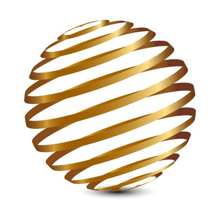 esfera: Ilustración vectorial de globo de oro