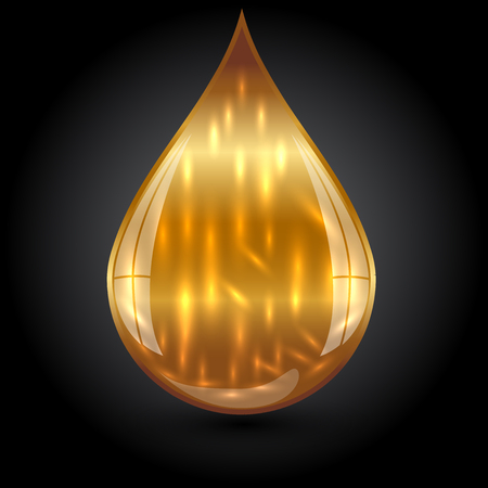 cooking oil: Vector illustration of gold drop