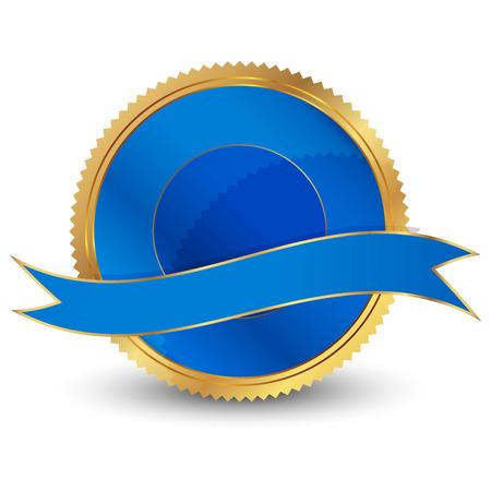 signatory: laVector illustration of blue seal