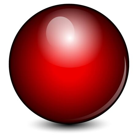 red ball: Vector illustration of Red ball