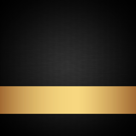 Vector illustration of gold and black background