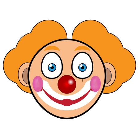purim carnival party: Vector illustration of Clown