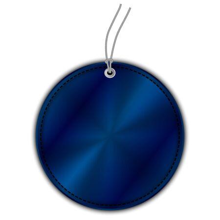 signatory: Vector illustration of blue circle