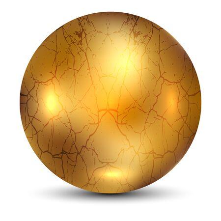 golden ball: Vector illustration of Golden Ball