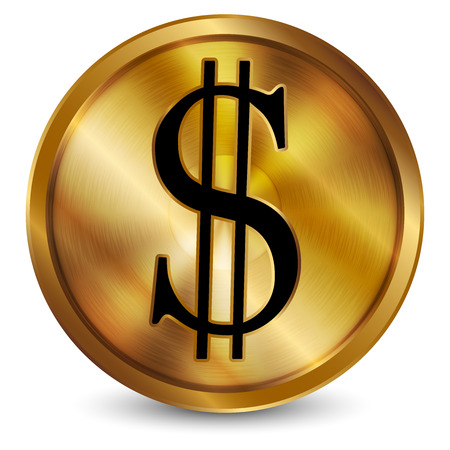 Vector illustration of  Gold coin