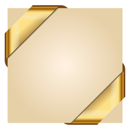 gold banner: Vector illustration of Golden Corner Ribbon